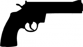 Smith and Wesson Revolver sticker