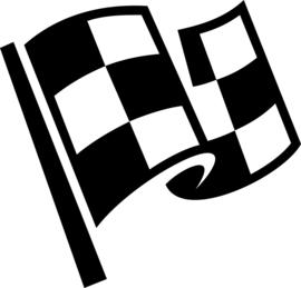 Race Vlag Motief 10  sticker