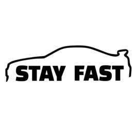 Stay Fast Paul Walker Sticker Motief 2