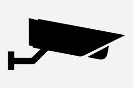 Bewakingscamera  Sticker Motief 5