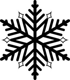 Sneeuwvlok Sticker Motief 8