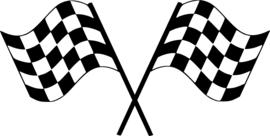 Race Vlag Motief 6  sticker