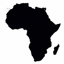 Afrika Map sticker