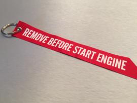 Remove Before Start Engine Sleutelhanger