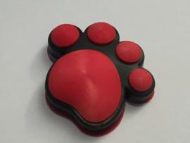 3D Honden / Katten poot Deurbeschermer Rood | 1st.
