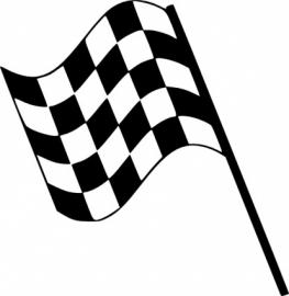Race Vlag Motief 8  sticker