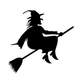 Halloween Heks Sticker Motief 1
