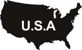 United States America U.S.A.  sticker