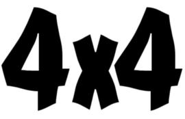 4x4 Motief 15 Sticker