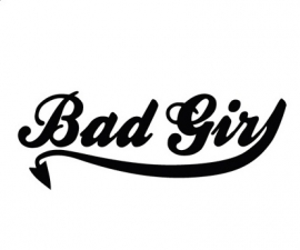 BAD GIRL sticker