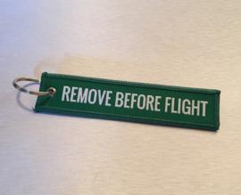 Remove Before Flight Sleutelhanger Groen