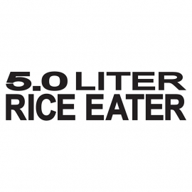 5.0 Liter Rice Eater Sticker
