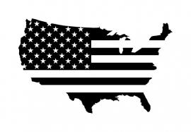 United States America U.S.A. + Vlag sticker