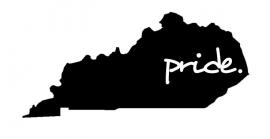 Kentucky State Pride  sticker