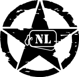 US Army Ster NL Sticker Motief 28