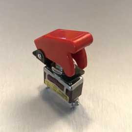 250V NOS Schakelaar / Switch + Cover Rood