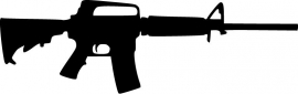 AR15 Assault Rifle US Military sticker