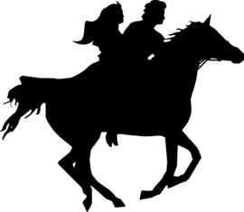 Paardrijden Sticker Motief 2