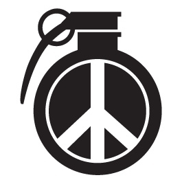 Granaat Peace Motief 2 sticker