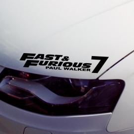 Fast and Furious 7 Paul Walker Sticker