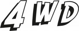 4WD Motief 5 sticker