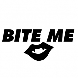 Bite Me Motief 2 sticker