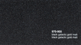 Oracal 970RA 905 Black Galactic Gold Mat Wrap Folie