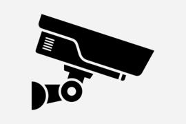 Bewakingscamera  Sticker Motief 10