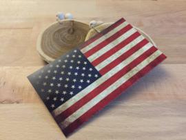 Amerikaanse Vlag Sticker Retro ( 11,5 x 6,5 cm )