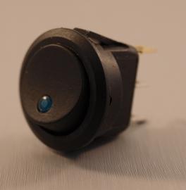 2 Standen Schakelaar LED Blauw Rond