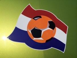 Oranje WK Statische herbruikbare Stickers  2st.