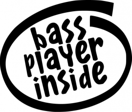 Bass Player Inside sticker