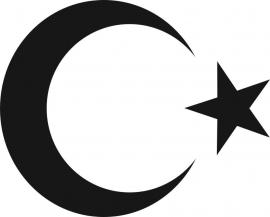 Turkse Vlag Symbolen Sticker