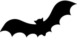 Halloween Vleermuis Sticker Motief 2