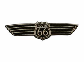 XL Route 66 Embleem Strijk Patch Met Wings