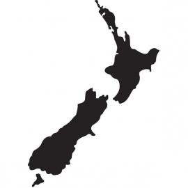 Nieuw-Zeeland Map sticker