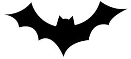 Halloween Vleermuis Sticker Motief 1