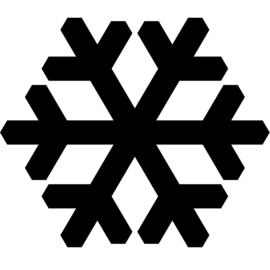 Sneeuwvlok Sticker Motief 1