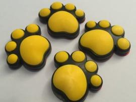 3D Honden / Katten poot Deurbeschermer Geel | Set 4st.