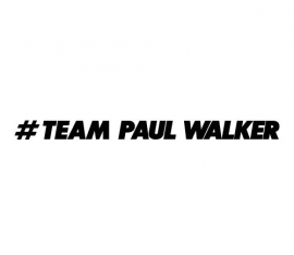 Team Paul Walker Motief 1 Sticker