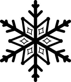 Sneeuwvlok Sticker Motief 6