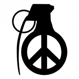Granaat Peace Motief 1 sticker
