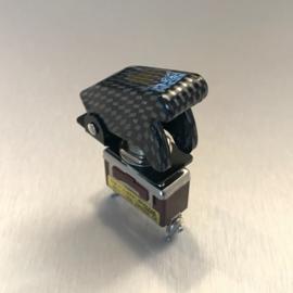 250V NOS Schakelaar / Switch + Cover Carbon Zwart / Zilver