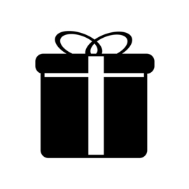 Cadeau Sticker Motief 1