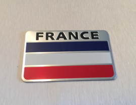 Frankrijk  Embleem Metaal ( Rechthoekig )