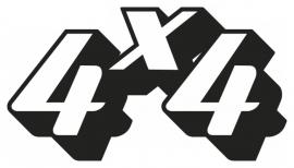 4x4 Motief 42 sticker