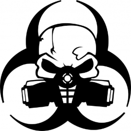 Biohazard Motief 4 sticker