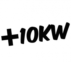 +10KW  Sticker