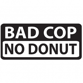 Bad Cop NO Donut Motief 2 Sticker