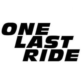 One Last Ride Paul Walker Tribute Sticker Motief 1